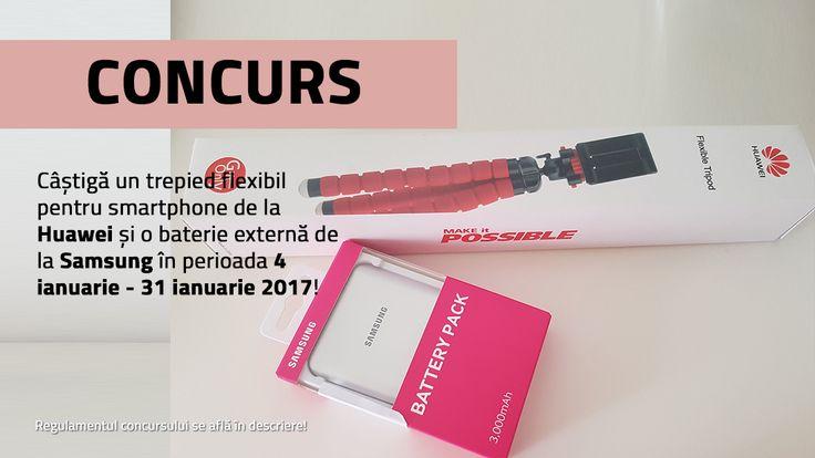 CONCURS: Câştigă un trepied flexibil pentru smartphone şi o baterie externă
