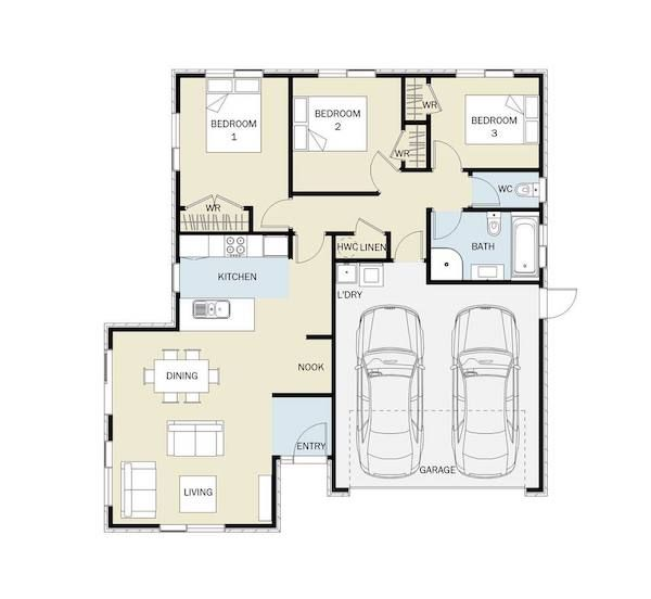 Warbler 132m2 Smarthome House Plans Home Builders Small House