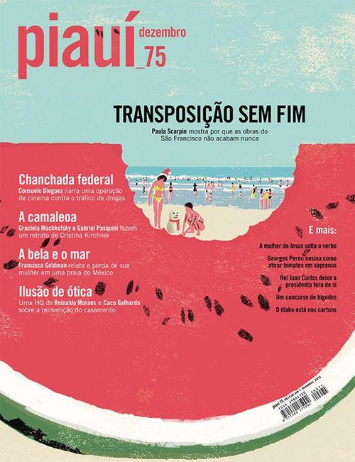 スイカのむこうにビーチ。 Piauí (São paulo, Brésil / Brazil)