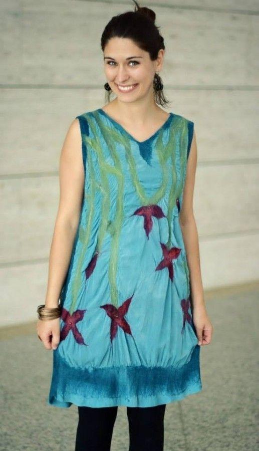 Selyem-nemez ruhák - Csillagvirágos