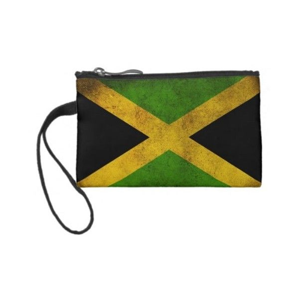 Jamaican Flag Bag Coin Purse ($33) ❤ liked on Polyvore featuring bags, wallets, coin pouch, change purse, coin pouch wallet, change purse wallet and coin purse