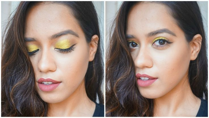 """Bright gold eyes using the colour pop telepathy eye shadow by Kathleen lights and winged liner makeup tutorial. Feel free to use any similar products to achieve the same look. Let's chat in the comments xx DON'T FORGET TO SUBSCRIBE & CLICK """"SHOW MORE""""   About Me: I am Debasree a beauty vlogger at  http://www.youtube.com/c/debasreebanerjee  and blogger at http://ift.tt/1RRR0WF You can holler me anytime @debasreee on my Instagram and Twitter.  Stalk me here:  Facebook http://ift.tt/1UctgRk…"""
