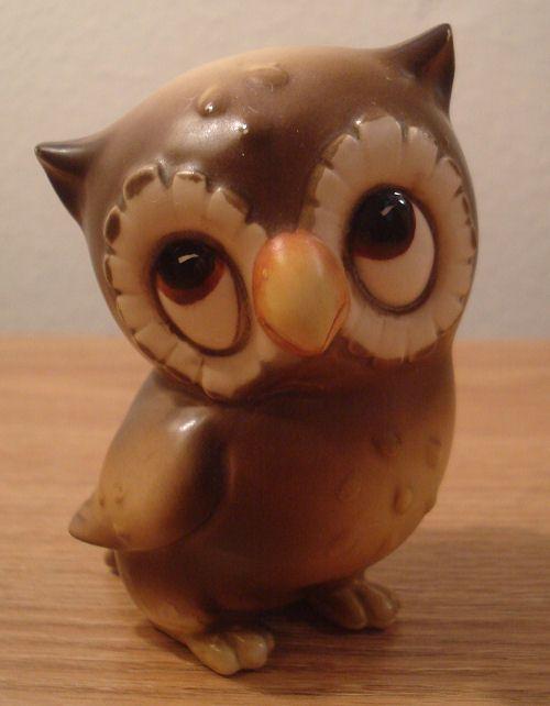 Nice Vintage Cute Ceramic Brown Owl Figurine Josef Original Japan Decor  Collectible