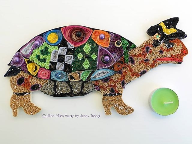 Project5: Quilling Meets Art_ Inspired by Tom's Drag #quilling #art #quillingart #artist #jennytreeg #madebyme  #handmade #paper #colors #turtle #tortoise #beads #gift #present #toms #drag #tom's_drag Find the quilling in Tom's Drag