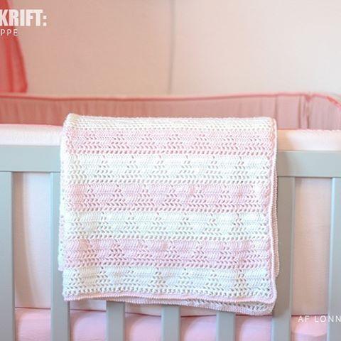 Hæklet babytæppe