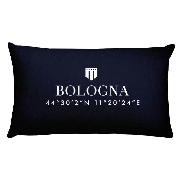 Bologna Italy Pillow with Coordinates