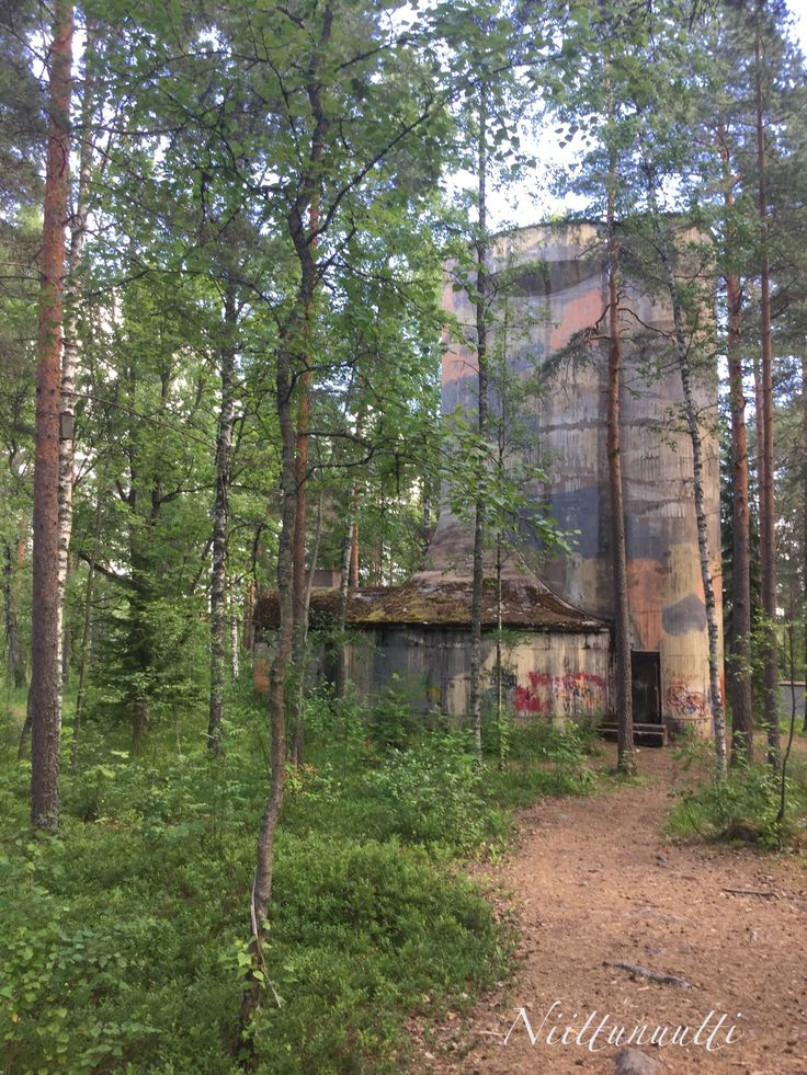 Still a bit scary... One of the two air defence towers that protected the Rajamäki Alcohol Factory during the 2nd World War