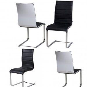 Encore Black & White Dining Chair