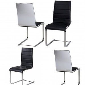 Encore Black & White Dining Chair