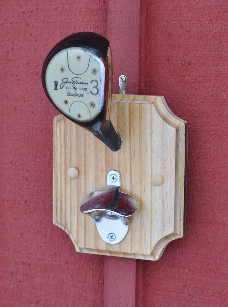Golf Club Bottle Opener- Unique Golf Gifts for Men - Gift For Dad - Golf Decor - Golf Wall Mount - Golfer Gift - Vintage Golf Club by DewSweeperGolf on Etsy