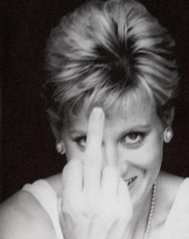 HA! My favourite pic of her of all time!!  Forever the world`s Princess Diana - Image by Alison Jackson.