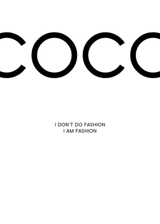 Svartvit Chanel poster...