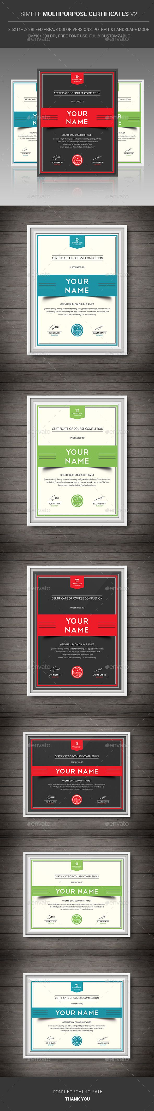 156 best certificate template design images on pinterest simple multipurpose certificates v2 psd template only available here http yadclub Image collections