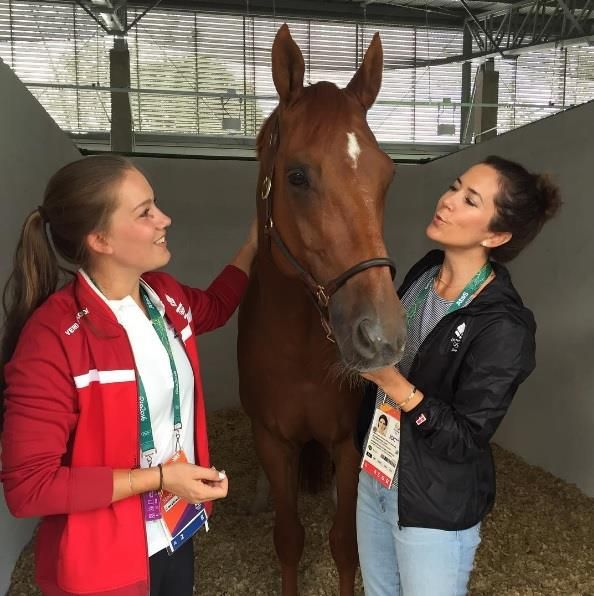Rencontre avec l'équipe danoise d'équitation, Rio
