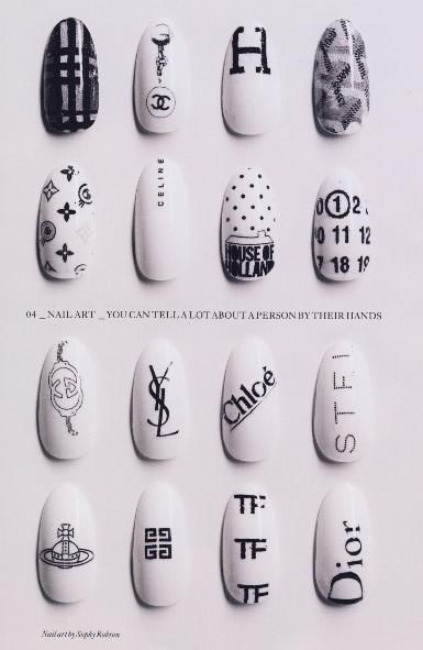 Label whore nails!: Beautiful Nails, Nails Design, Black Nails, White Nails, Sophie Robson, Nails Art Design, Fashion Nails, Design Nails, Art Nails