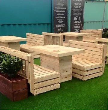 pallet patio furniture plan