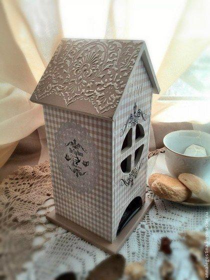"""Кухня ручной работы. Заказать Чайный домик """"Дом там, где сердце твое..."""". Anna Legostina (Decoupage Store). Ярмарка Мастеров."""