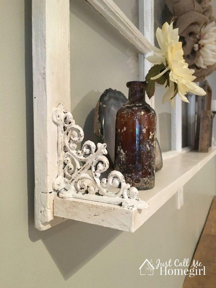 Adding a Shelf to an Old Window - Just Call Me Homegirl