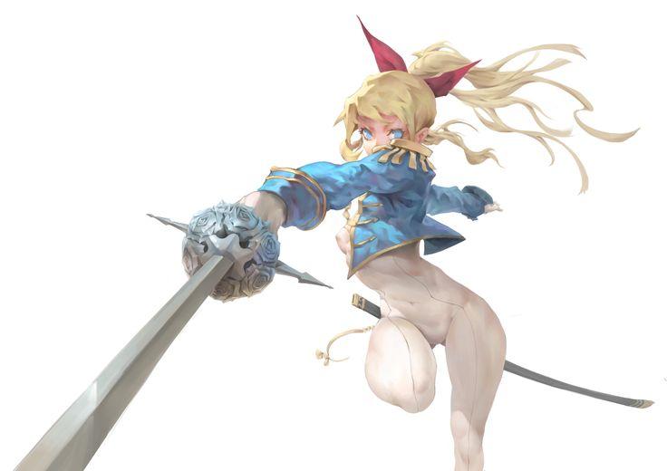 ArtStation - sword lady, Eddie Liao