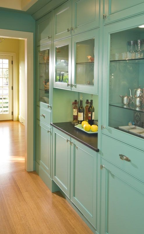 Delightful Butleru0027s Pantry With Custom Cabinetry ~ What A Great Color! Kitchen  PantryKitchen ArtKitchen WallsKitchen ... Ideas