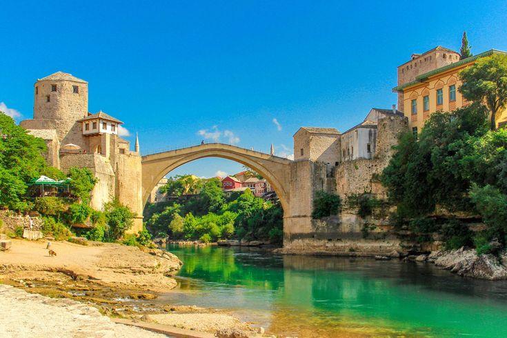 #architecture #blue #bosnia #city #country #design #europe #european #flag #herzegovina #landmark #landscape #old #river #sarajevo #symbol #tourism #town #travel #water #white