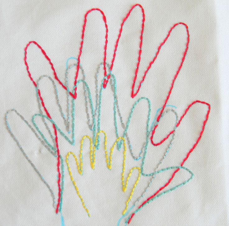 Embroidered Hand Prints | Inspired by FamiliaInspired by Familia