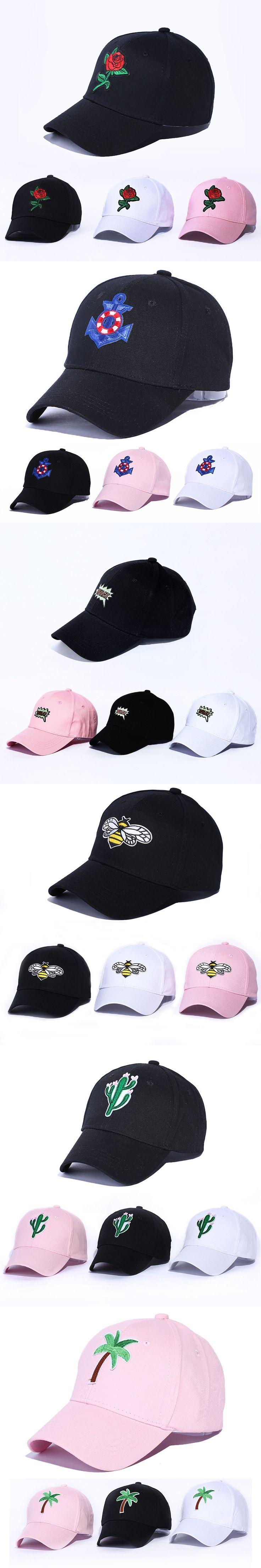Rose Embroidery Pattern Baseball Caps Snapback Hip Hop Black Dad Cap Designer Original Hats Men Women Visor Hats Bone Adjustable