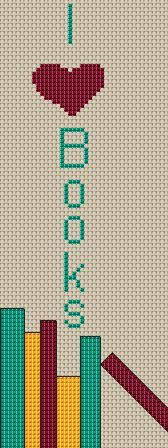 I love books  Cross stitch pattern