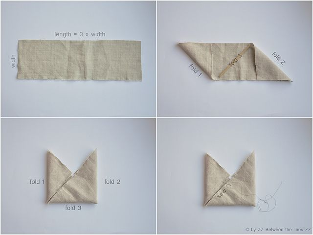 Triangle bag :: a tutorial | Flickr: Intercambio de fotos