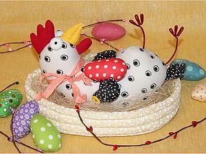 Шьём пасхальную курочку в корзинке   Ярмарка Мастеров - ручная работа, handmade
