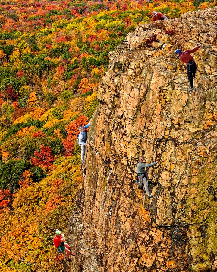 Rock climbing in Meriden, Connecticut