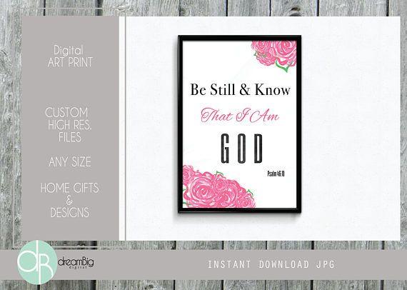 Be Still Bible Verse printable Bible Digital printable
