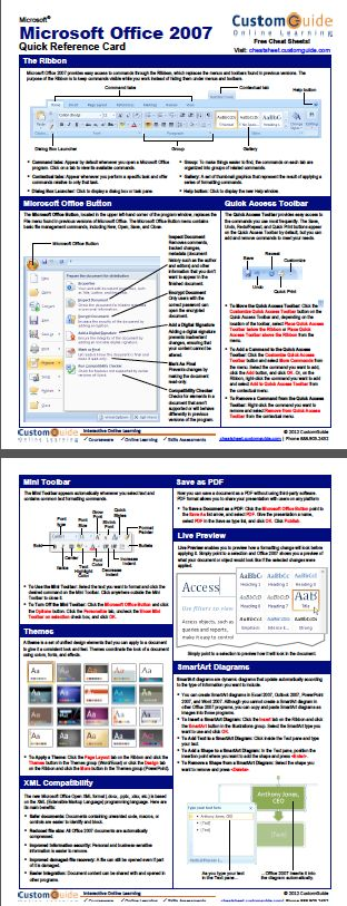 47 best quick references images on pinterest computers computer free office 2007 quick reference card httpcustomguide fandeluxe Image collections