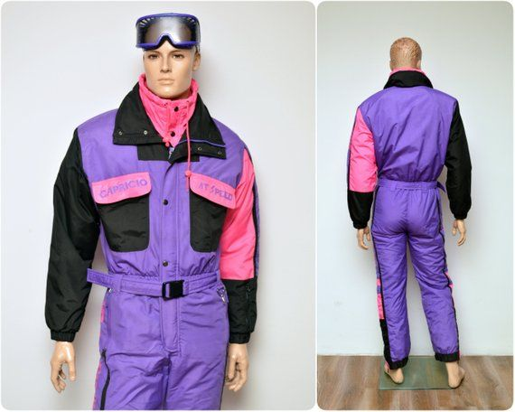 06be13e4d9b4 rad 80s neon SKI SUIT by CAPRICIO   onesie all in one overall ...