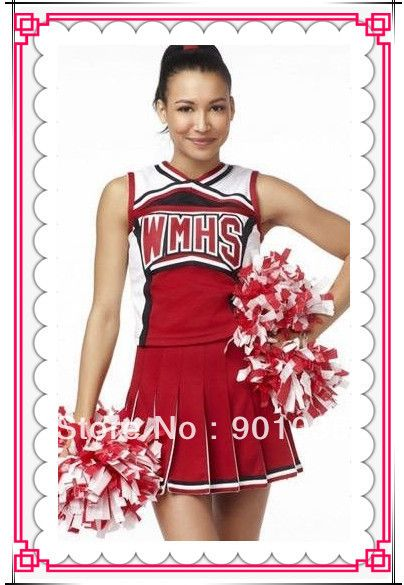 FREE SHIPPING Ladies Glee Cheerleader Costume School Girl Full Outfits Fancy Dress Uniform #SchoolOutfits