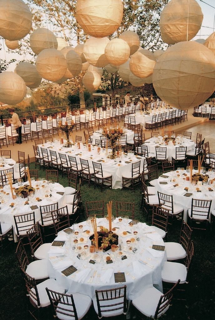 Photograph by: Jon Barber - unique layout for a wedding reception