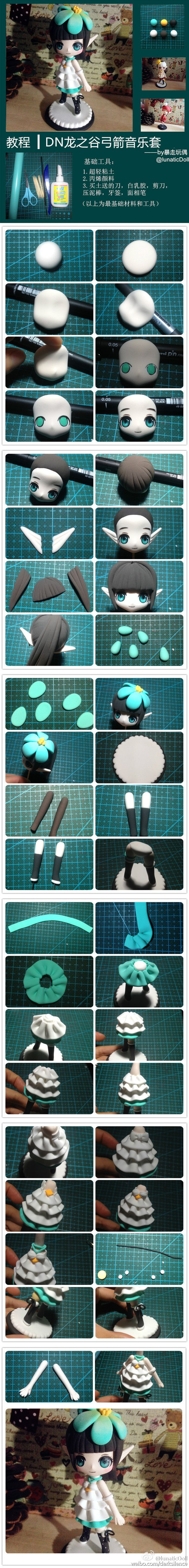 Polymer Clay Anime Fairy Chibi figurine picture tutorial