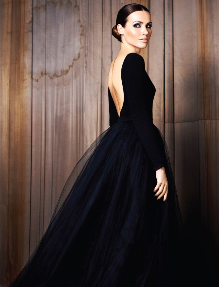 backless, love. If joe and I ever renewed our vowes and had a ton of money. I would want this exact dress but in an off white/cream. Gorgeous!