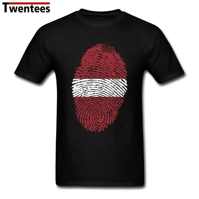 We love it and we know you also love it as well Custom Round Neck 100 % Cotton Latvia Flag Fingerprint Men's t-shirt Adult t shirts Cheap Wholesale just only $12.10 with free shipping worldwide  #tshirtsformen Plese click on picture to see our special price for you