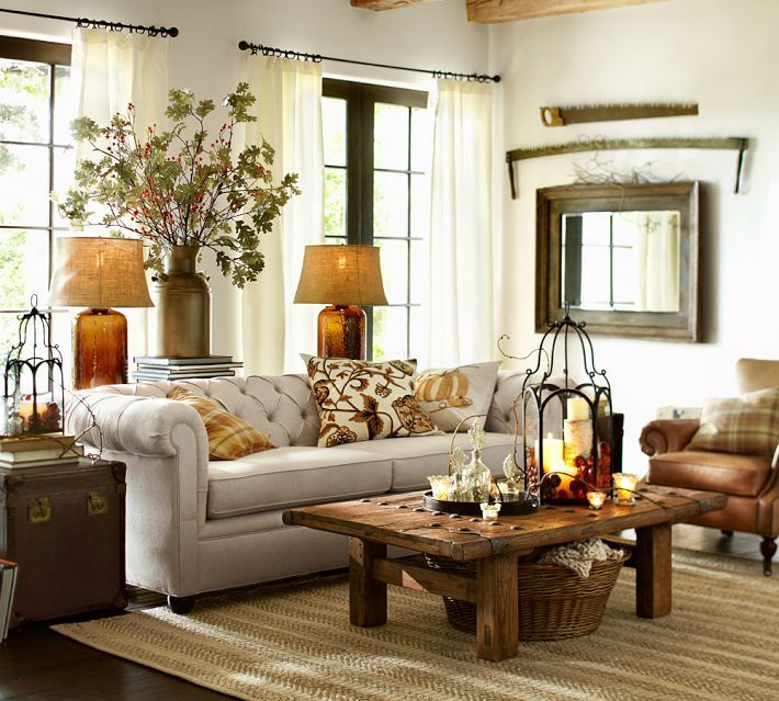 Chesterfield sofa (pottery barn) would love to see this in the leather. Perfect for a large family room.