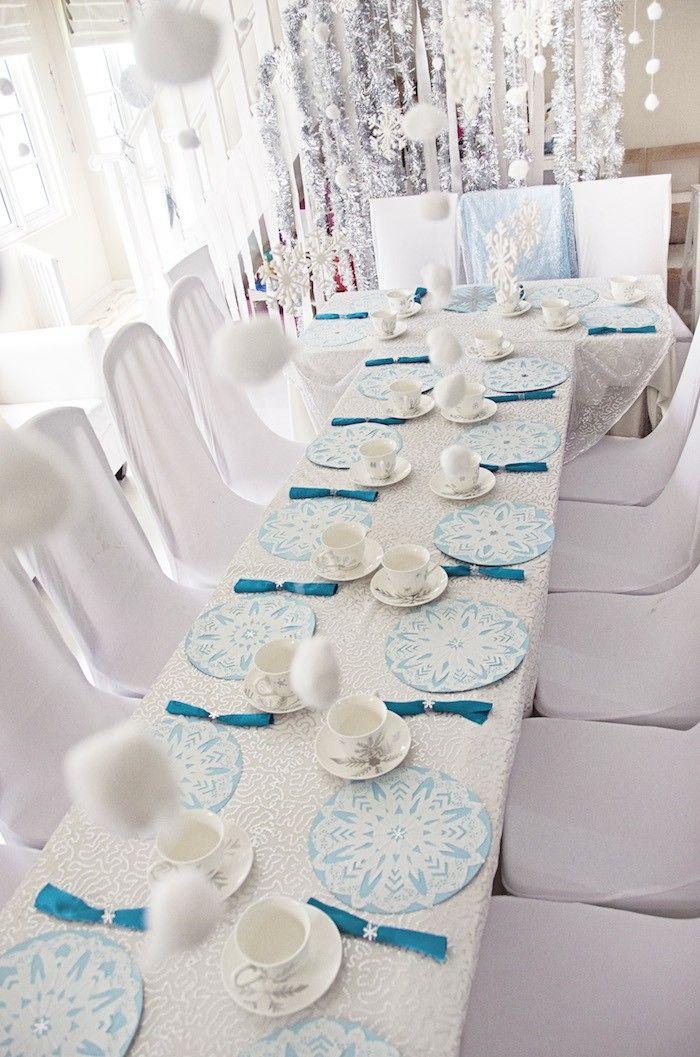 Frozen Themed Birthday Tea Party via Kara's Party Ideas