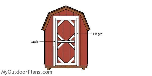 6 12 Shed Doors Plans Door Plan Shed Doors Shed