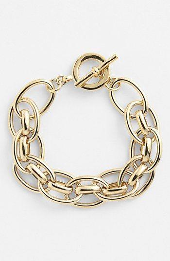 Lauren Ralph Lauren Chunky Link Toggle Bracelet available at #Nordstrom