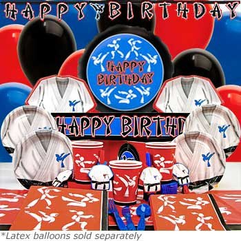 Deluxe Karate Birthday Box - Karate Party Pack there's also a standard pack. Compare birthday in a box with prices at party store.