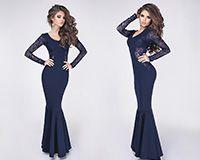 Вечернее платье Elza синее