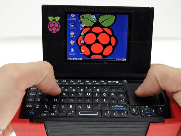Mobile Raspberry Computer Case - Portable Raspberry Pi-to-Go by partspeople - Thingiverse