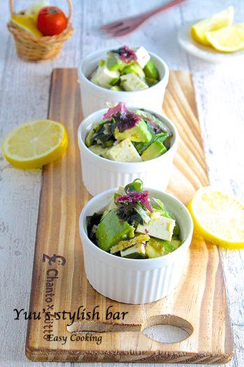 食物繊維・栄養たっぷり。カラダに嬉しい「海藻サラダ」のレシピ ... アボカドと豆腐の和サラダ柚子胡椒風味