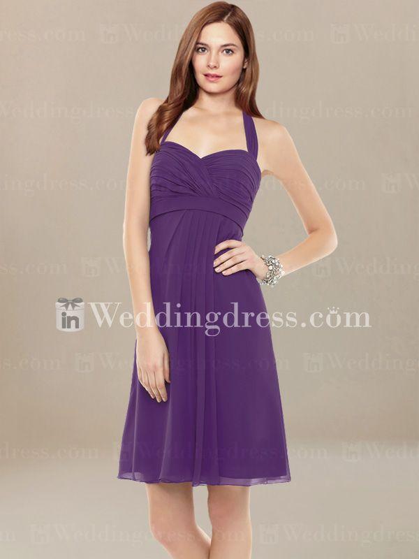 Summer Bridesmaid Dress with Halter Strap BR127