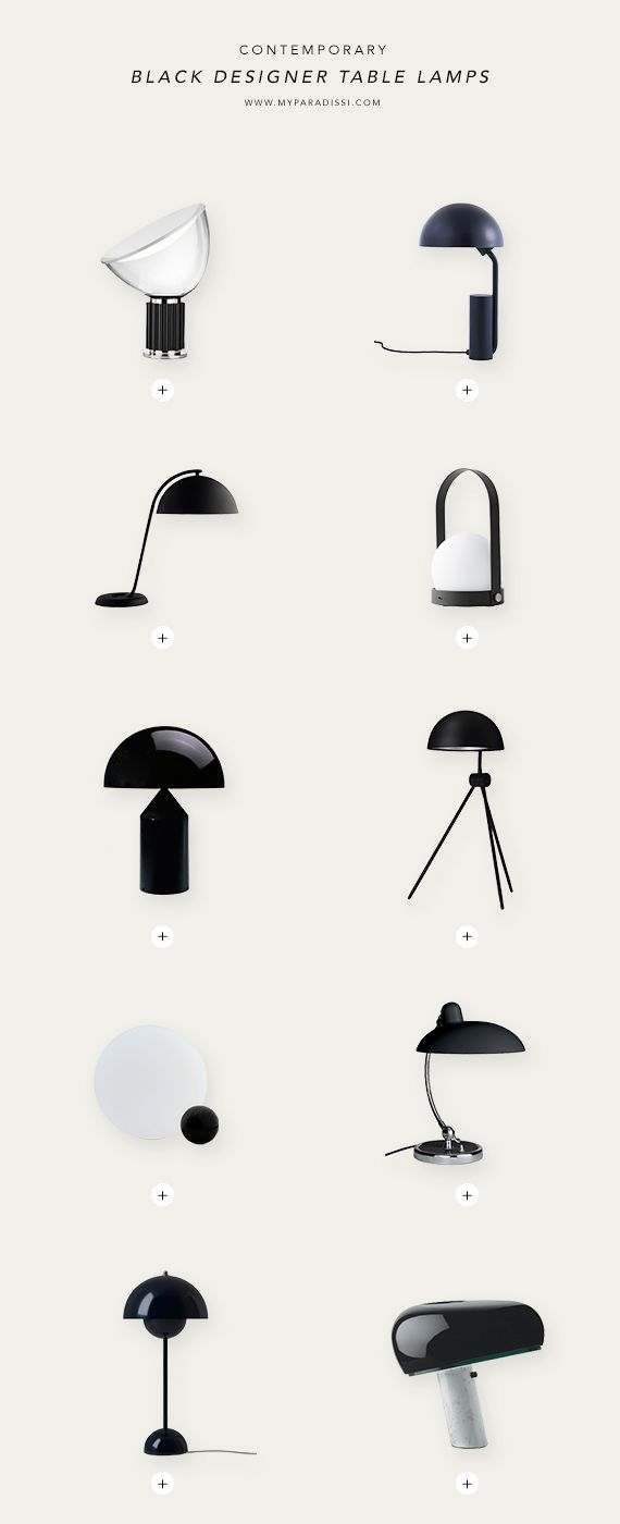 Contemporary designer table lamps
