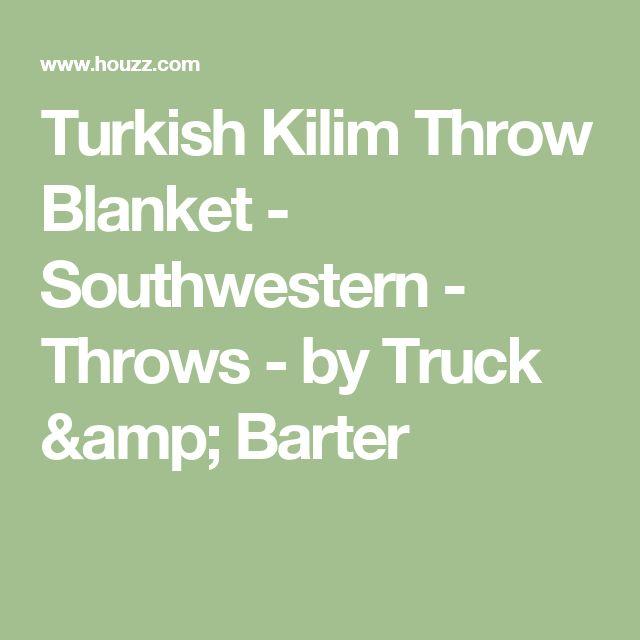 Turkish Kilim Throw Blanket - Southwestern - Throws - by Truck &  Barter